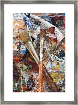 Art Is Messy 3 Framed Print