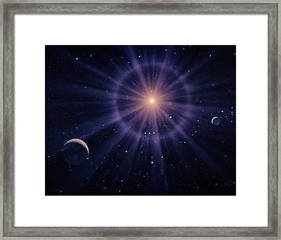 Art Of Betelgeuse As Supernova Framed Print by Joe Tucciarone