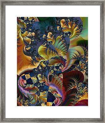 Framed Print featuring the digital art Art Of Confusion by Kim Redd
