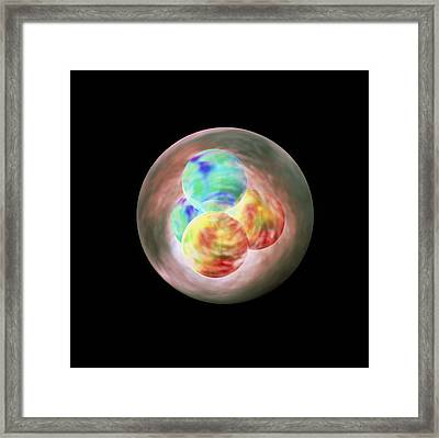 Art Of Helium Nucleus Or Alpha Particle Framed Print
