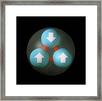 Art Of Proton Showing Constituent Quarks Framed Print by Laguna Design