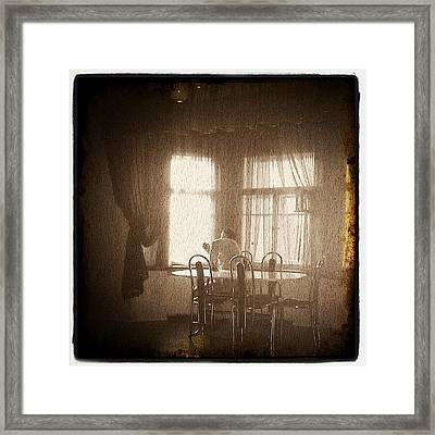 #art, #old, #oldphoto, #room, #home Framed Print