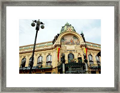 Art On A Building Framed Print by Pravine Chester