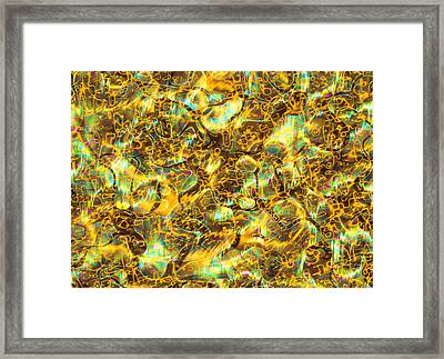 Art Representing Quantum Foam Framed Print by Mehau Kulyk