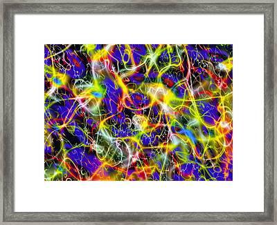 Art Representing Superstrings Framed Print by Mehau Kulyk