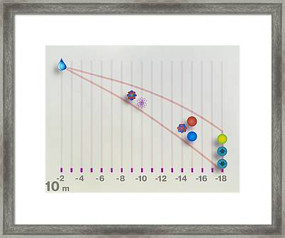 Art Showing Size Of Atomic Components Framed Print
