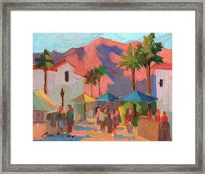 Art Under The Umbrellas Framed Print by Diane McClary