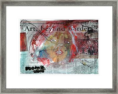 Art Without Boundaries Art Beyond Borders.. Framed Print by Rooma Mehra
