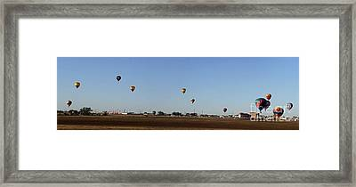 Artesia's Balloon And Bluegrass Festival Framed Print