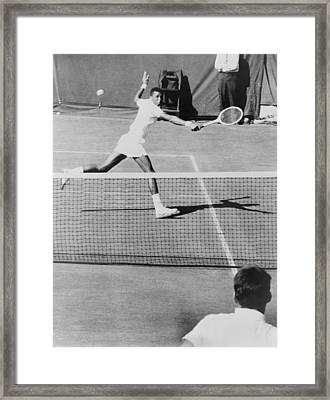 Arthur Ashe, 1943-1993, Playing Tennis Framed Print by Everett