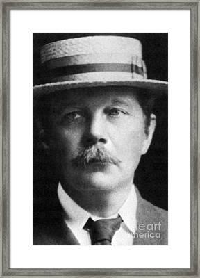 Arthur Conan Doyle, Scottish Author Framed Print by Science Source