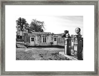 Arthurdale Gas Station I Framed Print by Steven Ainsworth