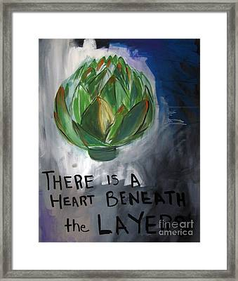 Artichoke Framed Print by Linda Woods