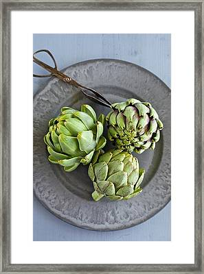 Artichokes Framed Print by Ingwervanille