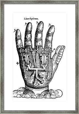 Artificial Hand Designed By Ambroise Framed Print
