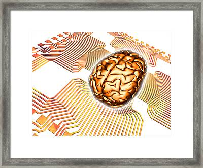 Artificial Intelligence, Computer Artwork Framed Print by Pasieka
