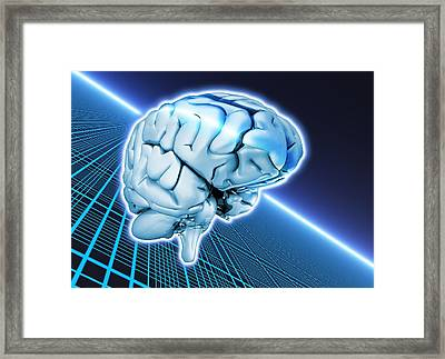 Artificial Intelligence, Conceptual Image Framed Print