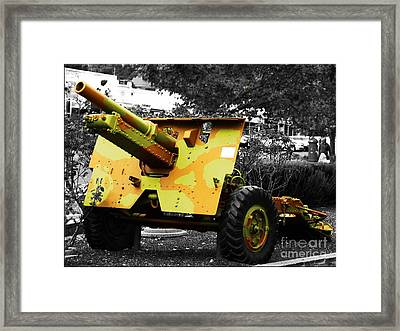 Framed Print featuring the photograph Artillery Piece by Blair Stuart