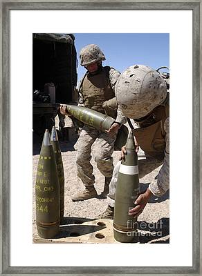 Artillerymen Stage 155-millimeter Framed Print by Stocktrek Images