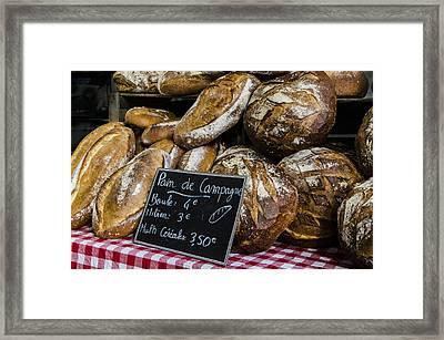 Framed Print featuring the photograph Artisan Bread by Marta Cavazos-Hernandez