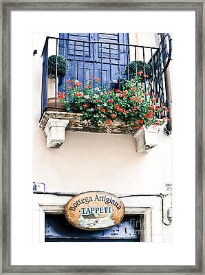 Artisan's Balcony Framed Print by Gordon Wood