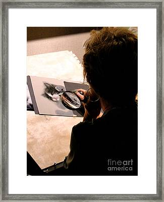 Artist At Work Framed Print by Al Bourassa