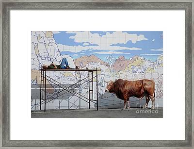 Artist At Work Framed Print by Bob Christopher