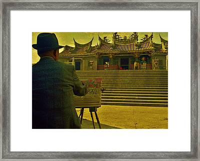 Framed Print featuring the photograph Artist At Work by Craig Wood