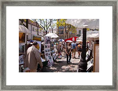 Artist Colony Of Montmartre Framed Print by Jon Berghoff