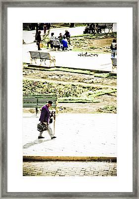 Artist In Purple Framed Print by Darcy Michaelchuk