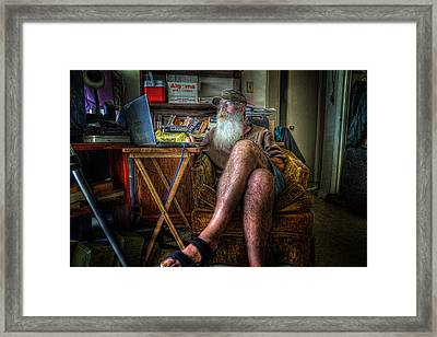 Artist In Repose Framed Print