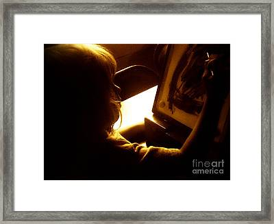 Artist In Training Framed Print by Christy Beal