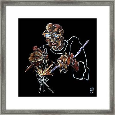 Artist Murano Glass Hand Made - Disegno Scuola Vetro Artistico Italia Framed Print