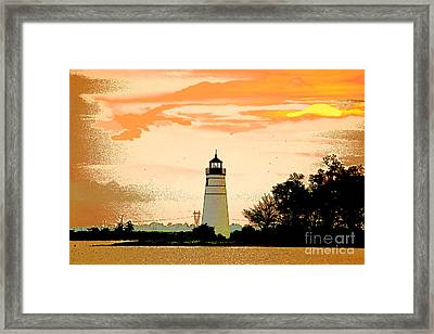 Framed Print featuring the photograph Artistic Madisonville Lighthouse by Luana K Perez