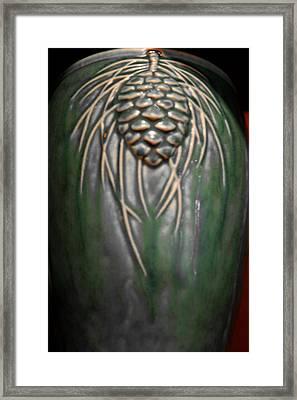Artistic Pine Cone Vase Framed Print by LeeAnn McLaneGoetz McLaneGoetzStudioLLCcom