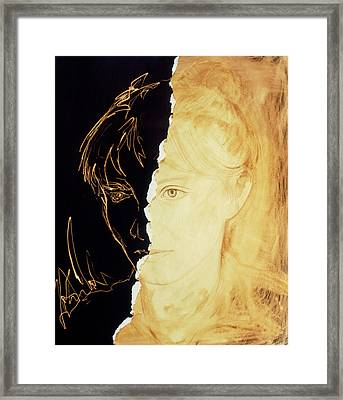 Artist's Abstract Depiction Of Schizophrenia Framed Print by David Gifford