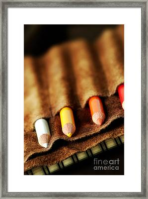 Artist's Colored Pencils Framed Print by HD Connelly