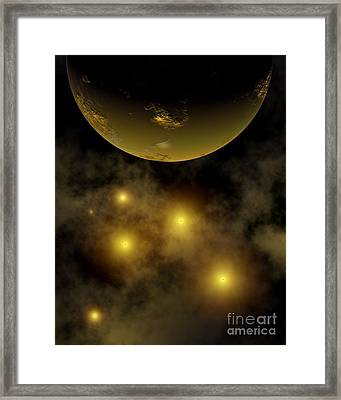 Artists Concept Illustrating A Star Framed Print by Mark Stevenson
