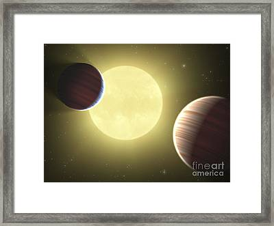 Artists Concept Illustrating The Two Framed Print by Stocktrek Images