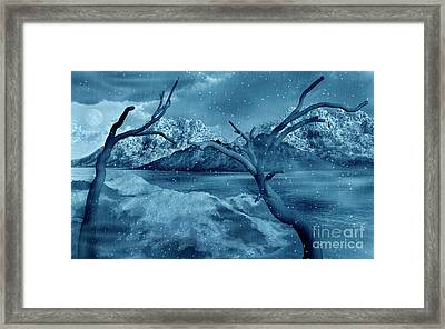 Artists Concept Of A Dangerous Snow Framed Print by Mark Stevenson