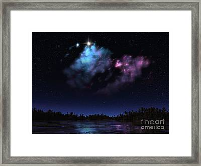 Artists Concept Of A Nebula Framed Print by Walter Myers