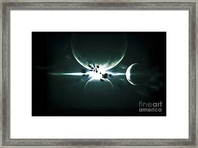 Artists Concept Of A Planet And Its 3 Framed Print by Kevin Lafin
