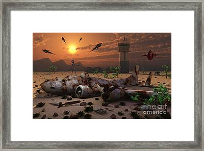 Artists Concept Of A Science Fiction Framed Print