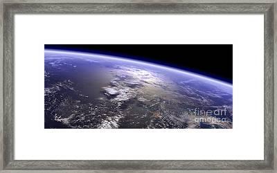 Artists Concept Of A Terrestrial Planet Framed Print