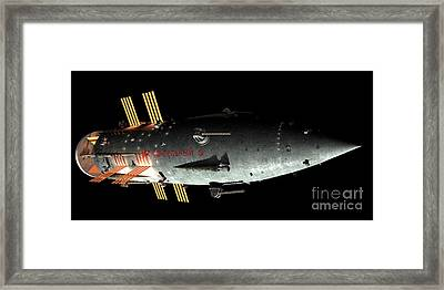 Artists Concept Of An Orion-drive Framed Print by Rhys Taylor