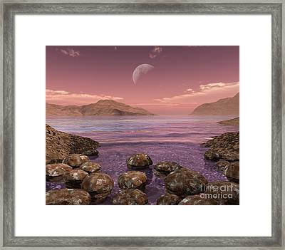 Artists Concept Of Archean Framed Print by Walter Myers