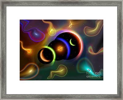 Artists Concept Of Cosmic Portals Framed Print by Mark Stevenson