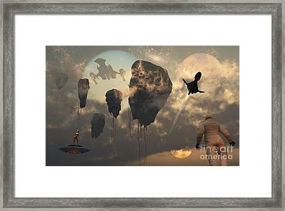 Artists Concept Of Mankind Crossing Framed Print by Mark Stevenson