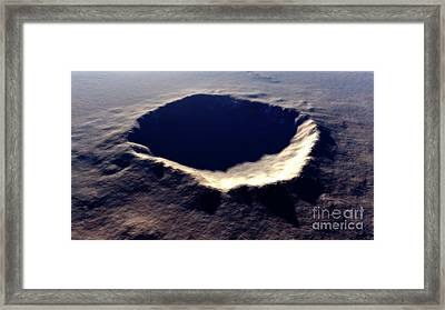 Artists Concept Of Meteor Crater Framed Print by Rhys Taylor