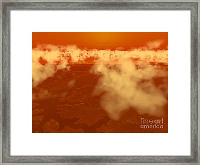 Artists Concept Of Methane Clouds Framed Print by Walter Myers